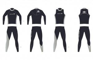 新しいウエットスーツのデザイン画 ※実はこのデザイン画は1コースを泳いでいるOさんにご協力いただき作成していただきました!