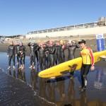 海のレースを想定したトレーニング