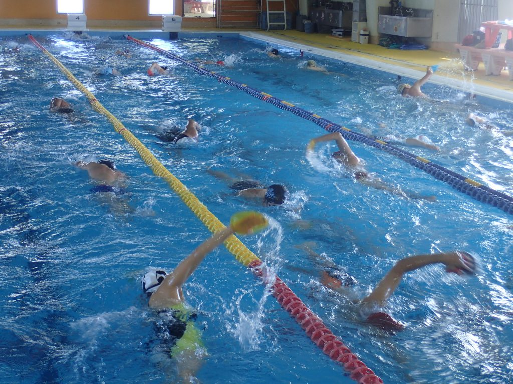 今日の新代田は1~5コースまで泳ぎ込み