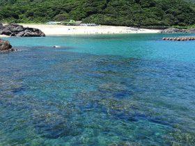 矢筈岬から見た一湊海岸