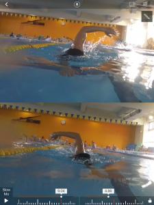 両側呼吸ドリルのときの映像!左右のリカバリーが均等ですね!