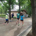 レッツランモーニング 動きつくりのトレーニング+インターバル走