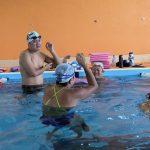 今朝のレッツスイムは彩葉コーチの日本泳法レッスン